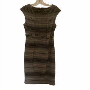 Calvin Klein Belted Pencil Skirt Dress